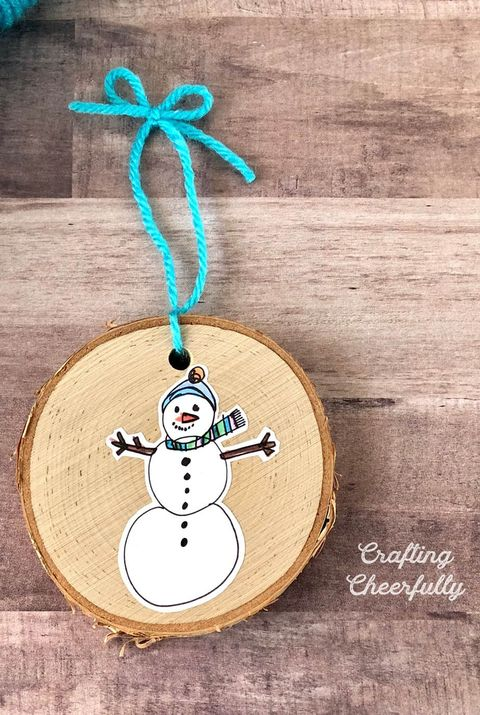 kids' artwork ornament