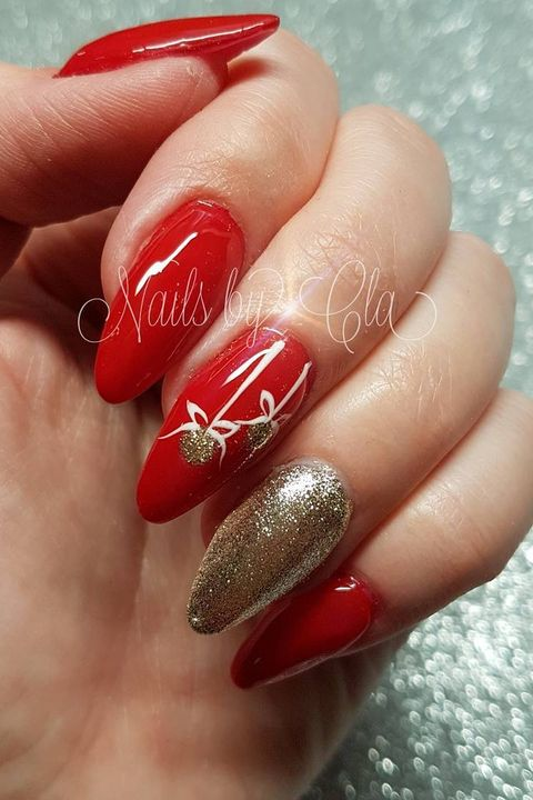 Red Ombre Nails Christmas.45 Festive Christmas Nail Art Ideas Easy Designs For