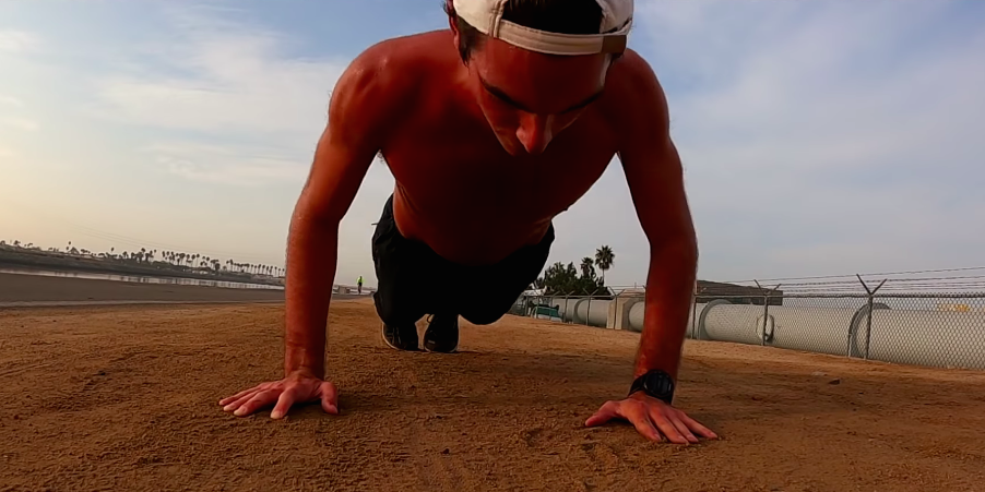 Runner Tries David Goggins' Run-Pushup-Run Workout