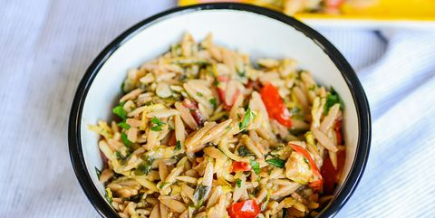 Orzo Garden Vegetable Pilaf With Feta and Herbs...