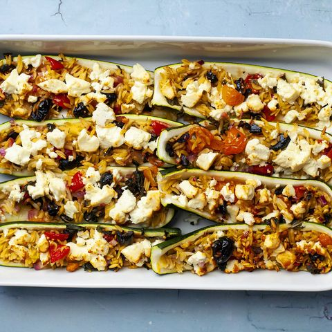 best courgette recipes orzo stuffed courgettes