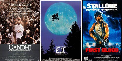 posters gandhi et el extraterrestre rambo
