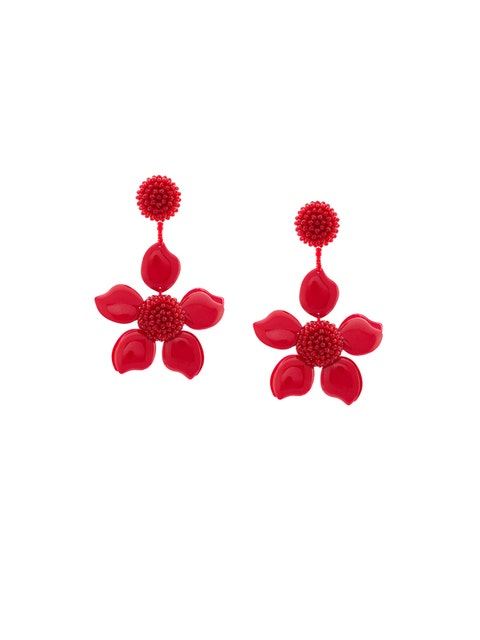 Red, Earrings, Hibiscus, Petal, Plant, Flower, Fashion accessory, Jewellery, Malvales, Body jewelry,
