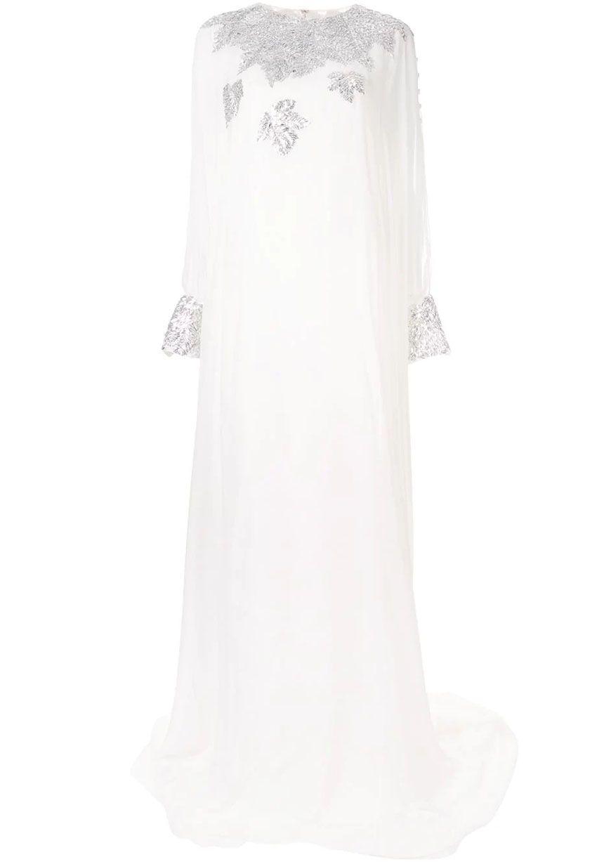 oscar de la renta witte jurk ss2019