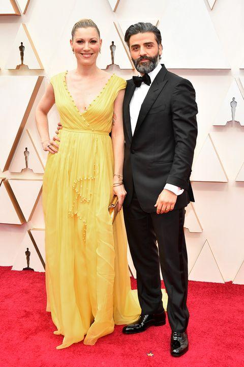 Elvira Lind and Oscar Isaac, 92nd Annual Academy Awards - Arrivals