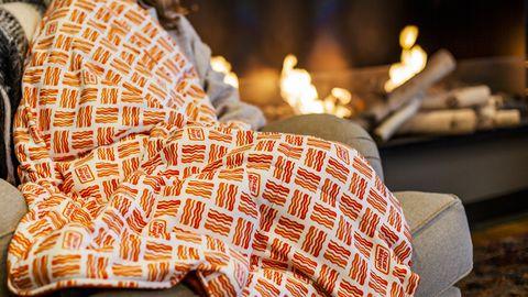 Orange, Textile, Furniture, Pattern,