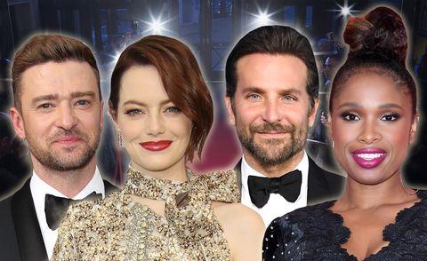 Justin Timberlake, Bradley Cooper, Emma Stone, Jennifer Hudson, Oscars