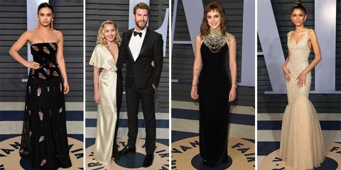 oscars 2018 after-party red carpet dresses