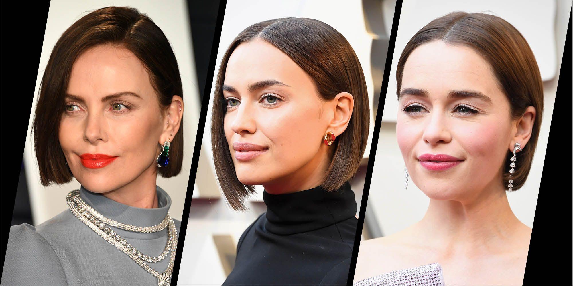 Brunette bobs were trending at the Oscars 2019 - Charlize Theron, Irina Shayk, Emilia Clarke
