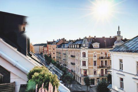 Street in Oslo Norway