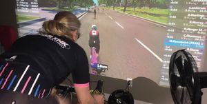 Stephanie Ossenbrink finds her race legs again with Zwift