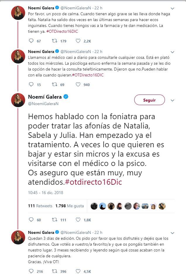 Noemí Galera Twitter