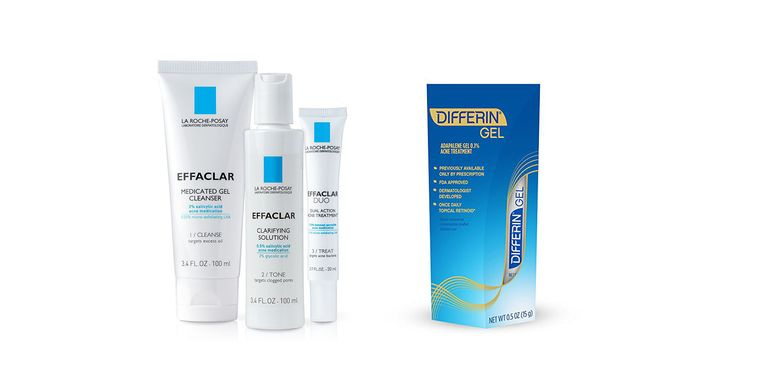 Differin Gel; La Roche-Posay Effaclar Treatment System