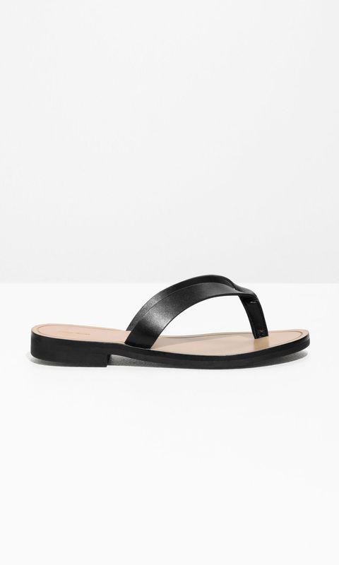 Footwear, Sandal, Slipper, Flip-flops, Shoe, Slingback, Leather, Strap, Beige,