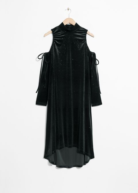 Clothing, Black, Dress, Outerwear, Sleeve, Day dress, Robe, Formal wear, Cocktail dress, Costume,
