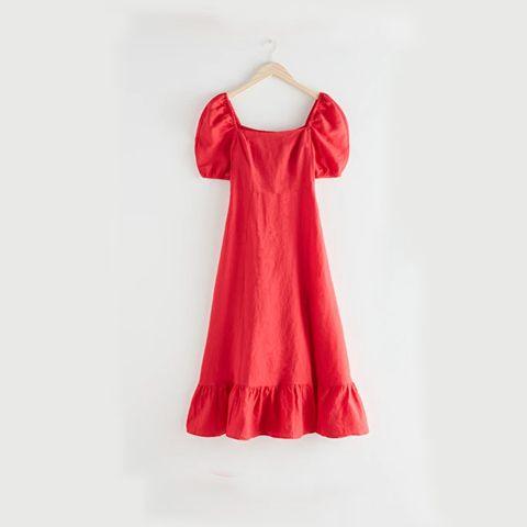 rode zomer jurk  other stories