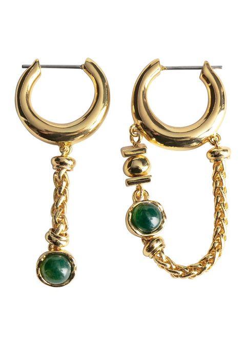 Earrings, Jewellery, Fashion accessory, Body jewelry, Emerald, Gemstone, Brass, Jewelry making, Turquoise, Ear,