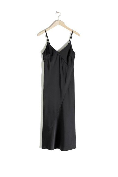 Clothing, Black, White, Dress, Cocktail dress, Day dress, Sleeve, Neck, Little black dress, Sleeveless shirt,