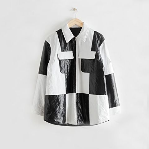 other stories oversized colour block overshirt