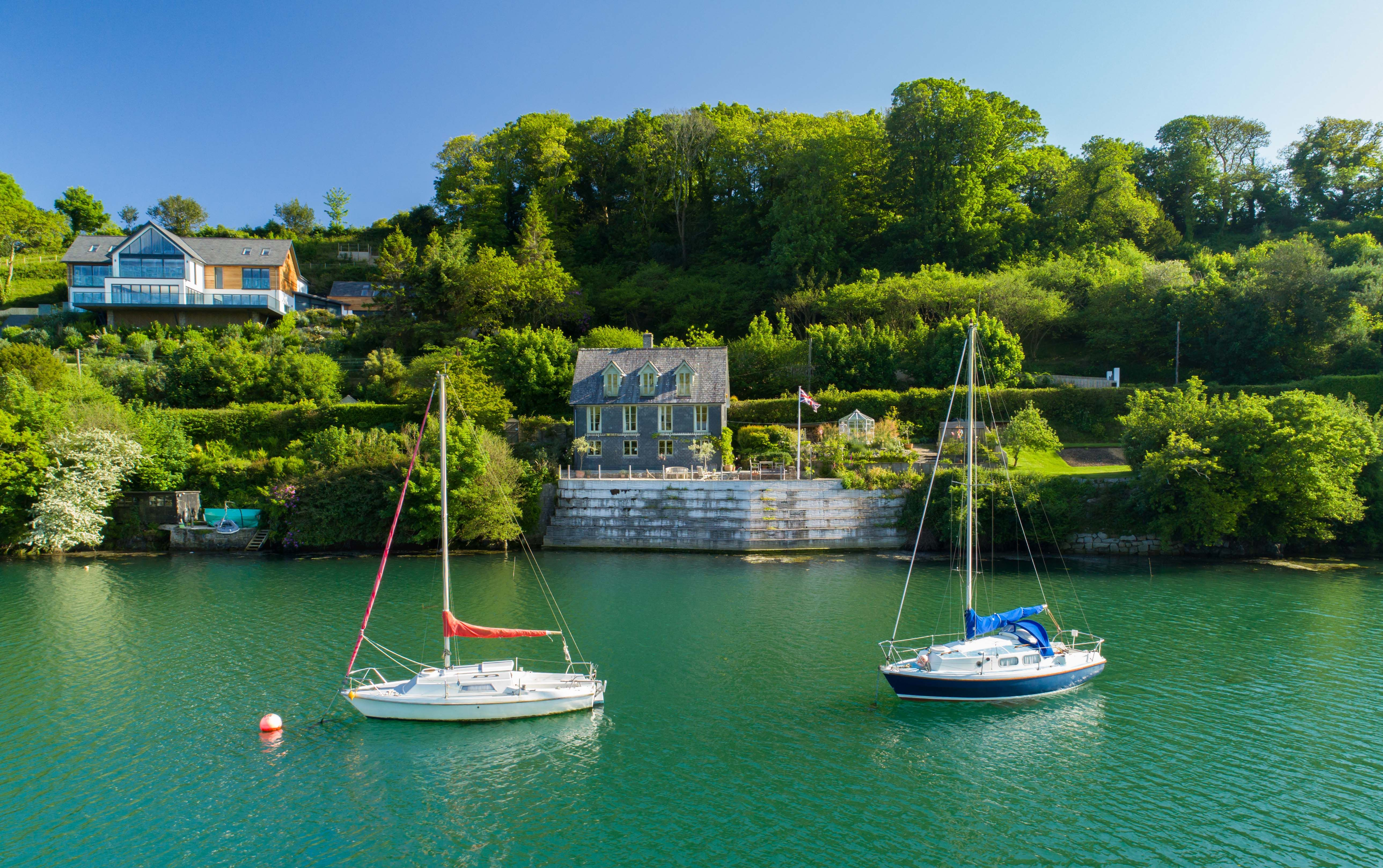 Awe Inspiring Idyllic Waterside Cornish Home With Private Quay For Sale Download Free Architecture Designs Salvmadebymaigaardcom