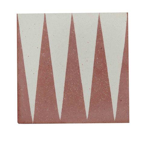 outdoor tiles garden decorating ideas otto tile coral terracotta graphic pattern
