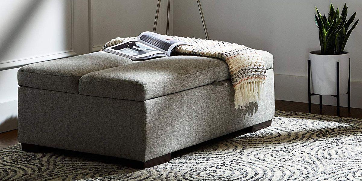 Outstanding The Rivet Ottoman Folds Out Into A Bed Customarchery Wood Chair Design Ideas Customarcherynet