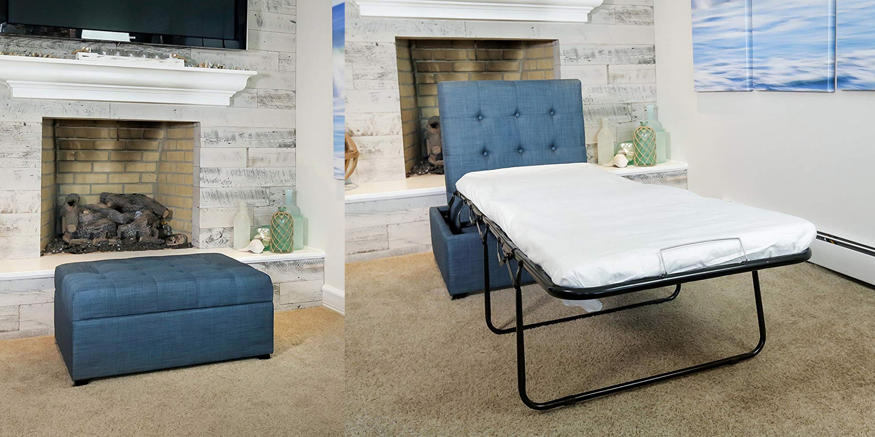 Awe Inspiring Amazon Is Selling An Ottoman That Pulls Out Into A Bed And Cjindustries Chair Design For Home Cjindustriesco