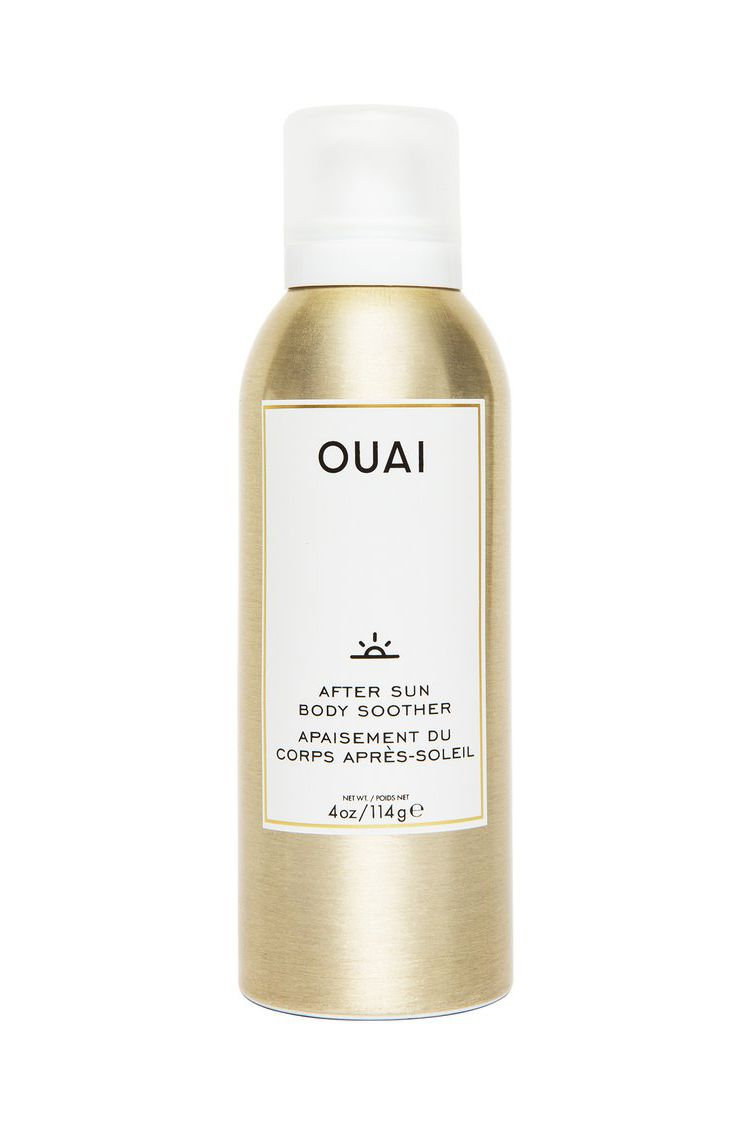This After-Sun Soothing Spray Ouai After Sun Body Soother, $25 SHOP IT A relaxing day laying out in the sun can turn into a sun-damaged skin disaster QUICKLY. You can avoid that with this cooling body moisturizer spray that soothes redness and replenishes the skin with calming ingredients.