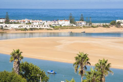 view of Oualidia beach, Morocco