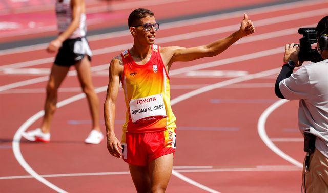 yassine ouyassine ouhdadi se convirtió en uno de los reyes del mediofondo paralímpico español al conquistar la medalla de oro de los 5000 metros, clase t13 de discapacitados visuales leves, en los juegos paralímpicos de tokio, en una carrera marcada por el intenso calor
