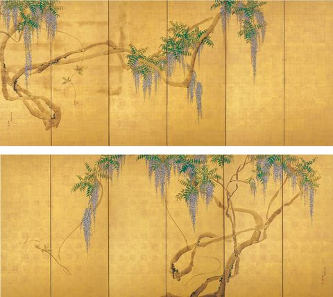京都市京セラ美術館 京都の美術250年の夢 円山応挙 藤花図屏風