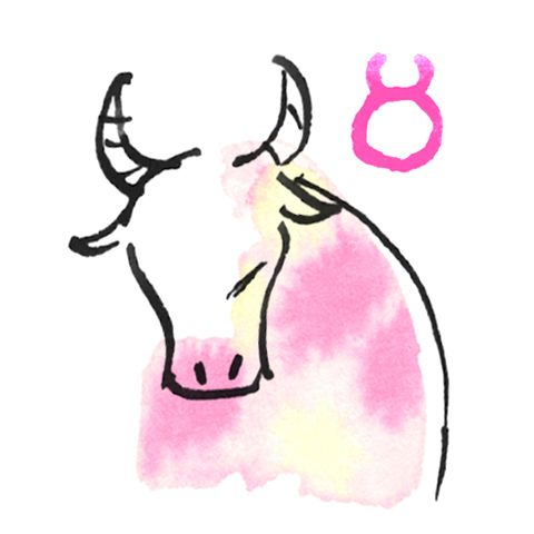 Pink, Bovine, Clip art, Cow-goat family, Horn, Bull, Illustration,