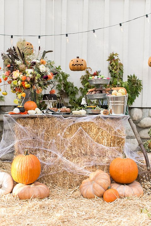 outdoor halloween decorations buffet