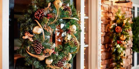 Martha Stewart Living 30-Inch Unlit Golden Holiday Wreath