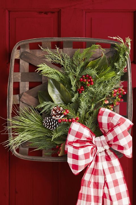 Outdoor Christmas Decorations Tobacco Basket Wreath