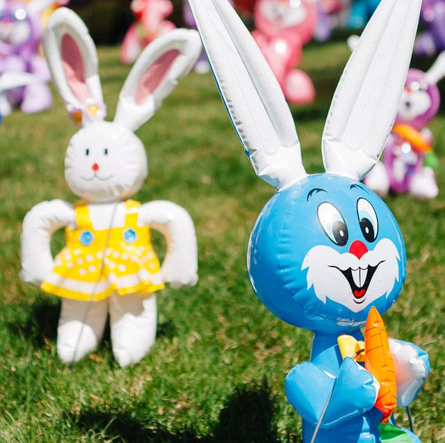 inflatable Easter bunny lawn decorations
