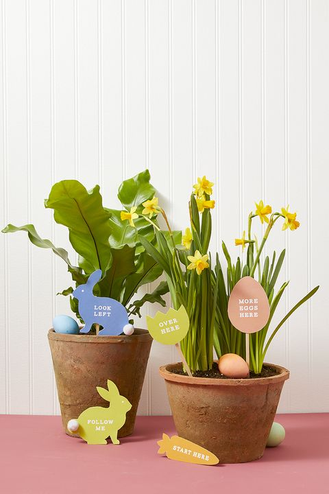 outdoor easter decorations - egg hunt markers