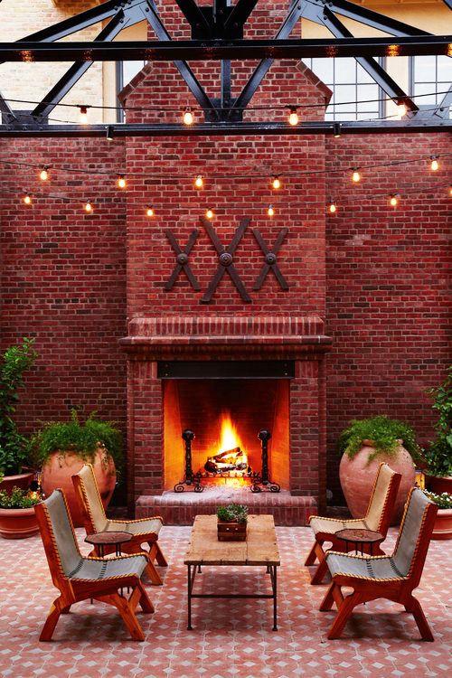 25 Outdoor Fireplace Ideas, Outdoor Brick Fireplace Designs Ideas