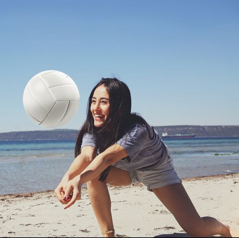 outdoor games for adults - beach volleyball