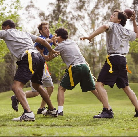 outdoor games for adults - flag football