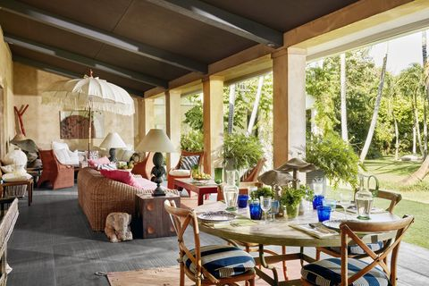 outdoor garden rooms fringe umbrella