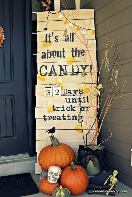 diy countdown to halloween sign
