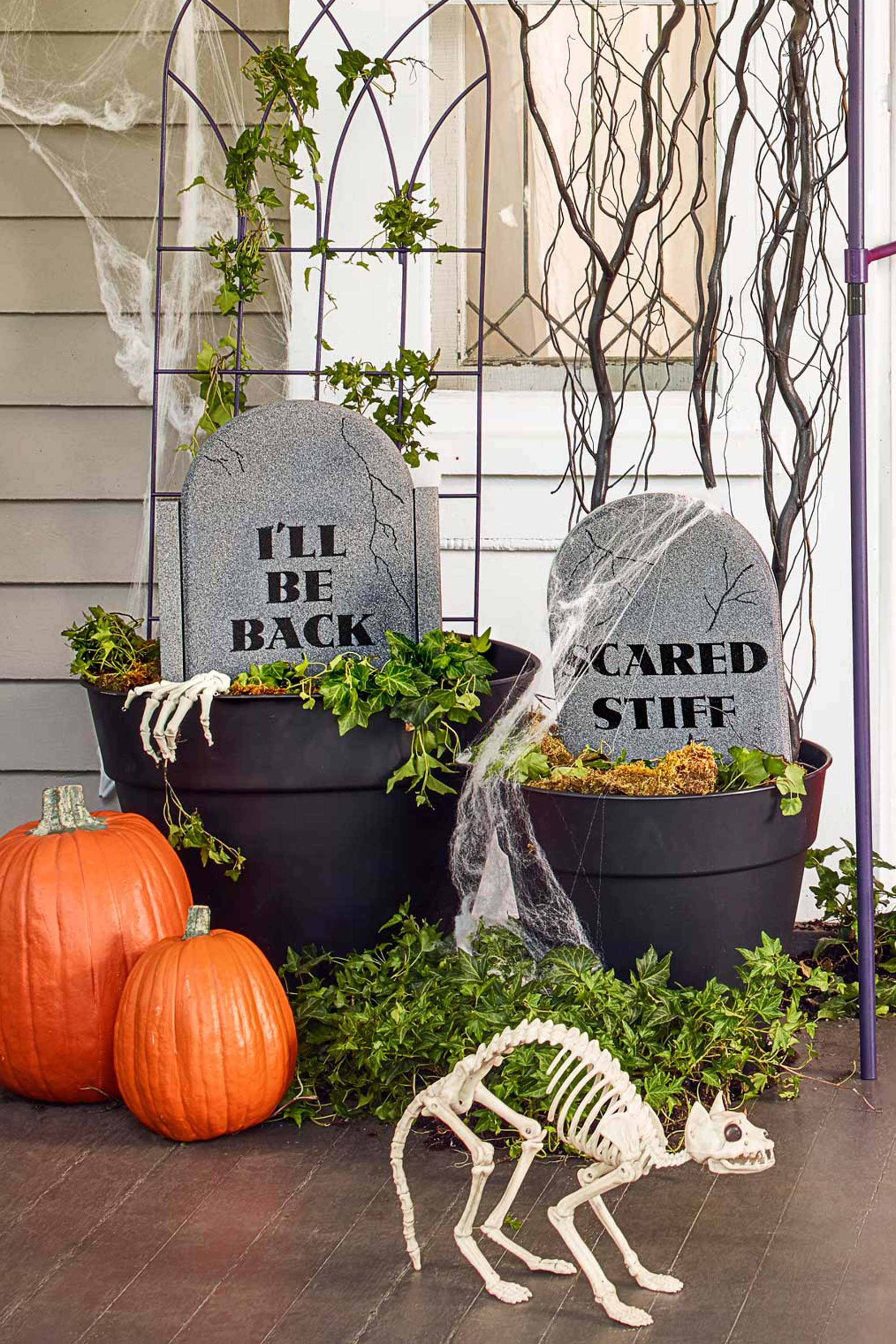 37 Scary Outdoor Halloween Decorations Best Yard and Porch