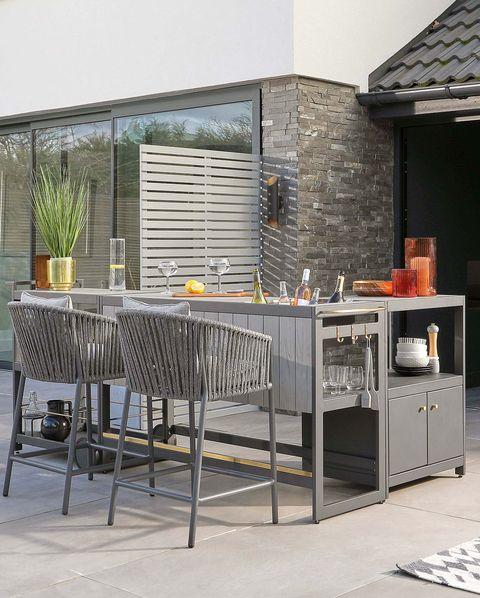 outdoor kitchen ideas   palm outdoor kitchen bar set
