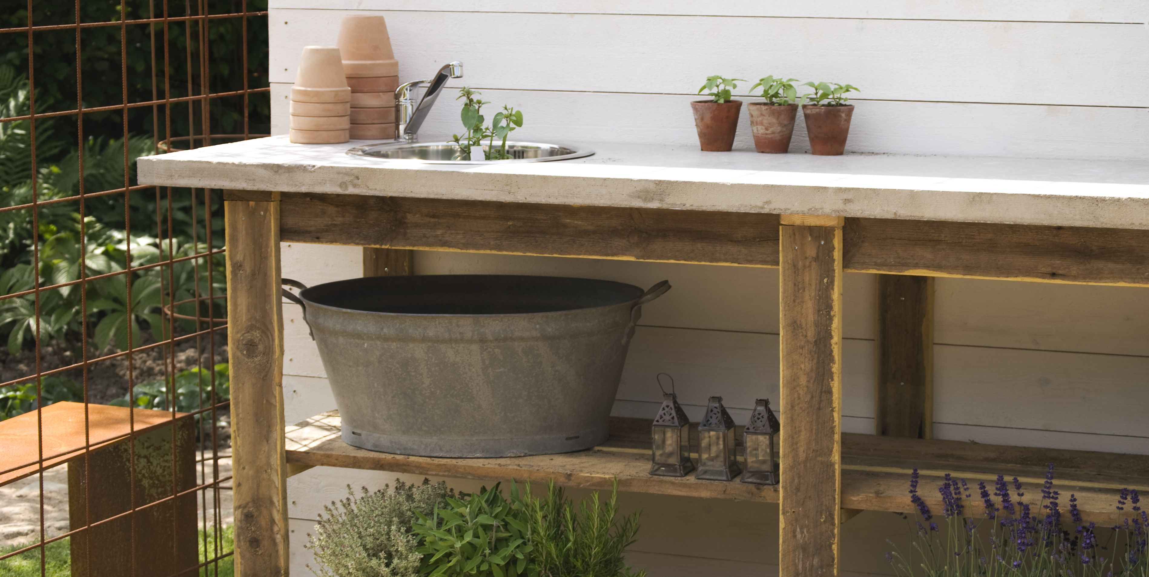 20 Potting Benches That Rival Joanna Gaines's Garden Workstation