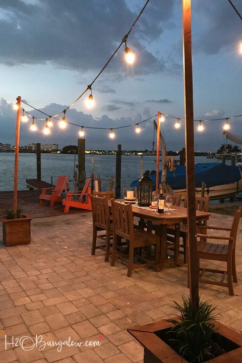 outdoor lighting ideas string lights