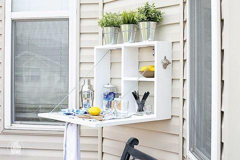 outdoor serving station backyard diy