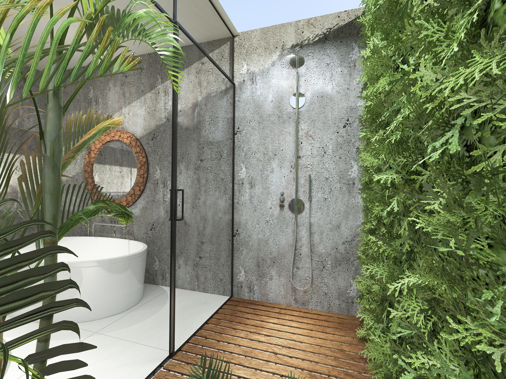 outdoor showers & 17 Outdoor Shower Design Ideas - Chic Enclosures for Outdoor Showers