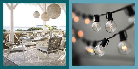 best outdoor lighting   elle decor