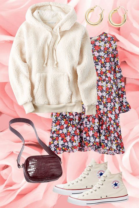 White, Clothing, Pink, Peach, Product, Fashion, Footwear, Outerwear, Dress, Design,